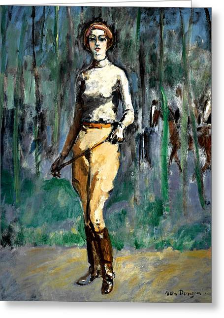 Horse Rider Greeting Card by Kees van Dongen