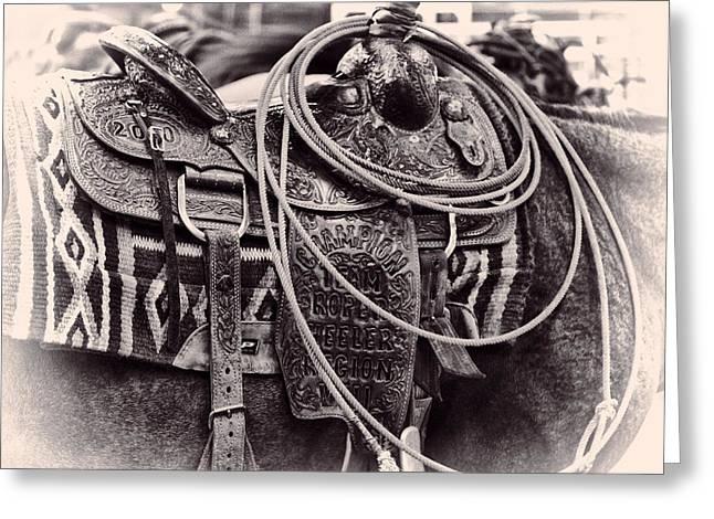 Horse Saddle Greeting Card