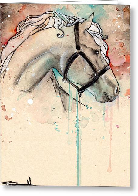 Horse Greeting Card by Sean Parnell