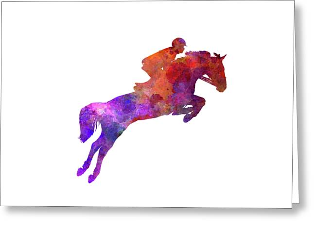 Horse Show 01 In Watercolor Greeting Card