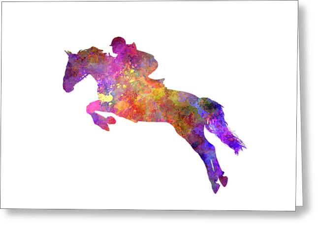 Horse Show 07 In Watercolor Greeting Card