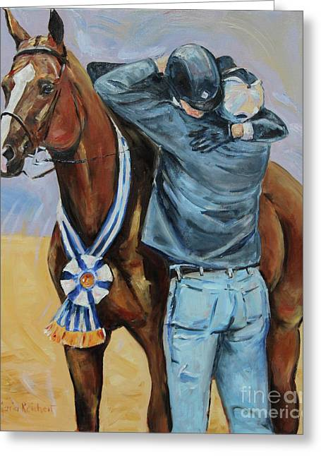 Horse Show Art, Equitation Champion Greeting Card