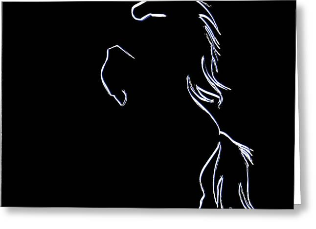 horse Silhouette Greeting Card