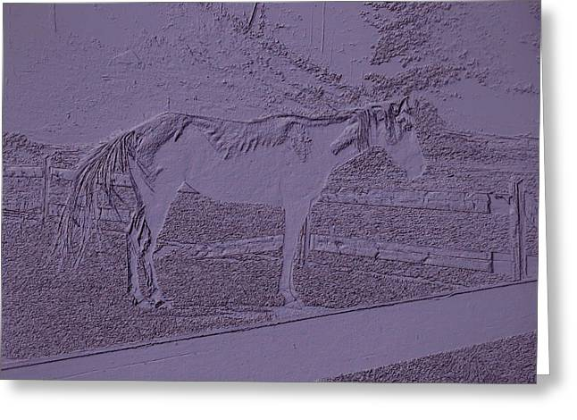 Horse Standing By The Fence 2 Greeting Card by Lanjee Chee