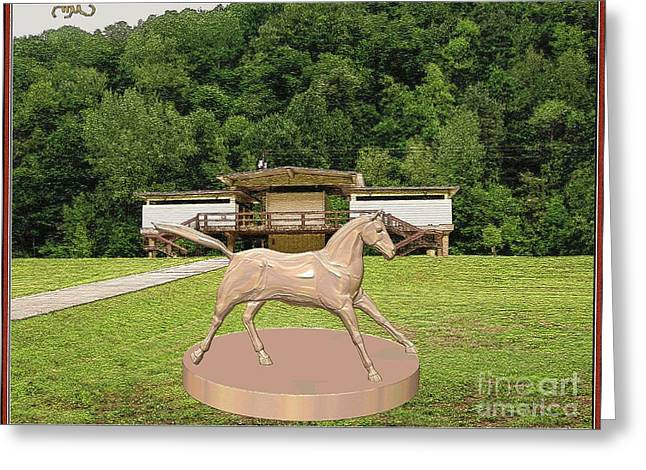 horse statue 45HS2 Greeting Card by Pemaro