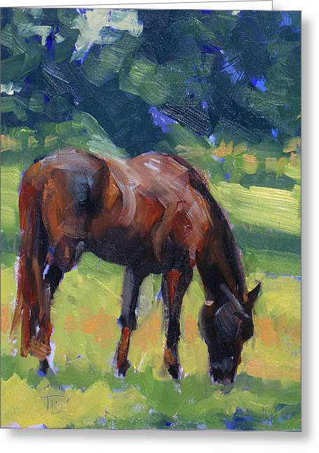 Horse Study No.40 Greeting Card by Tracy Wall