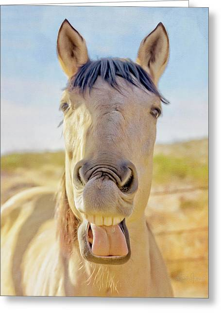Horse Talk #2  Greeting Card