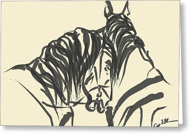 Horse - Together 9 Greeting Card
