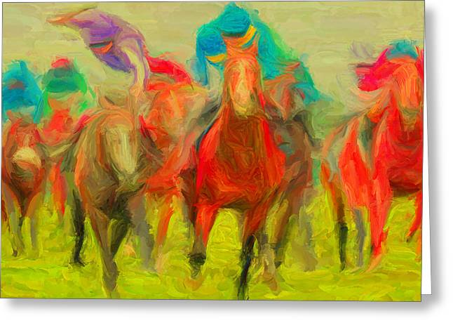 Horse Tracking Greeting Card