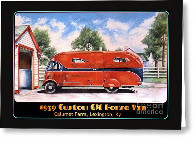 Horse Van Greeting Card