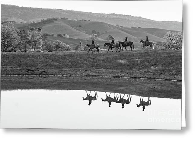 Horseback Landscape Greeting Card