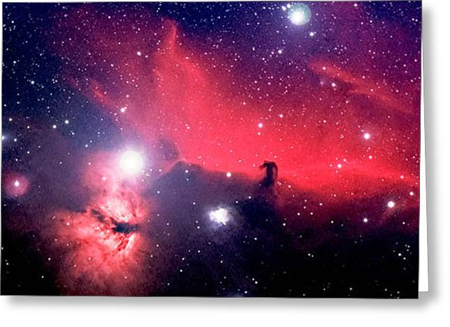 Horsehead Nebula Panorama Greeting Card