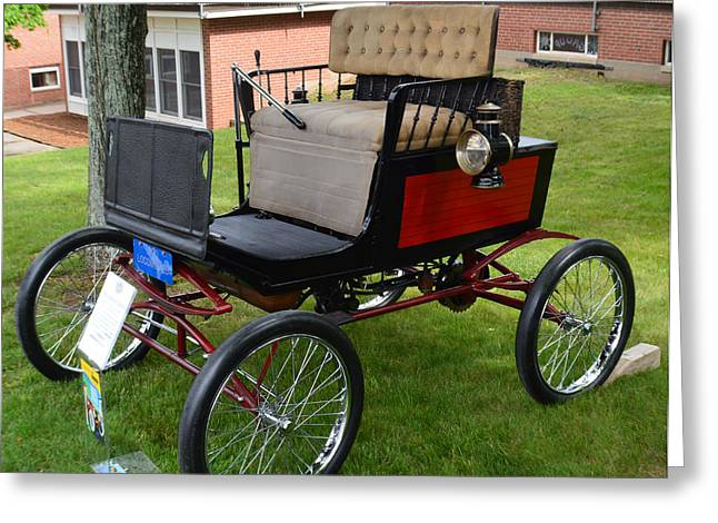 Horseless Carriage-c Greeting Card