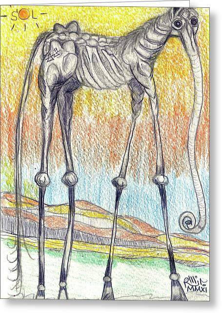 Horsephant Greeting Card by Robert Wolverton Jr