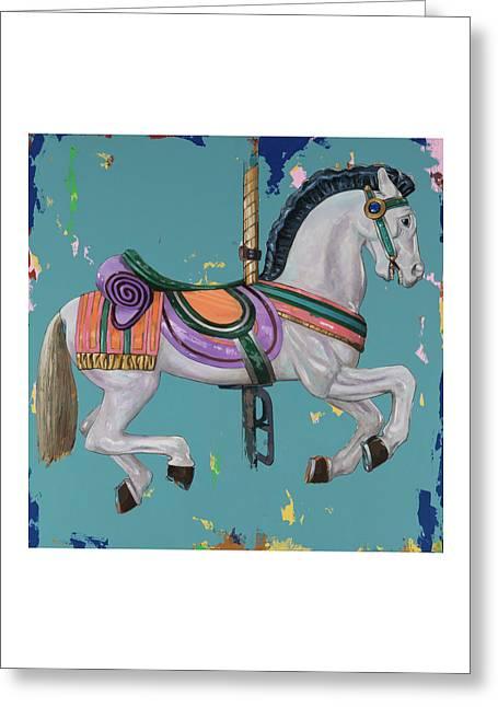 Horses #2 Greeting Card by David Palmer