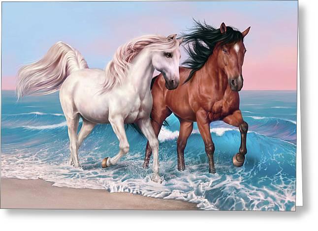 Horses Art Greeting Card