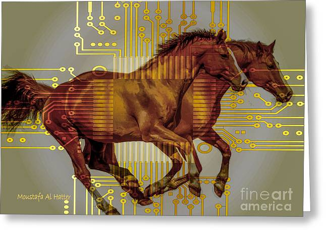 The Sound Of The Horses. Greeting Card