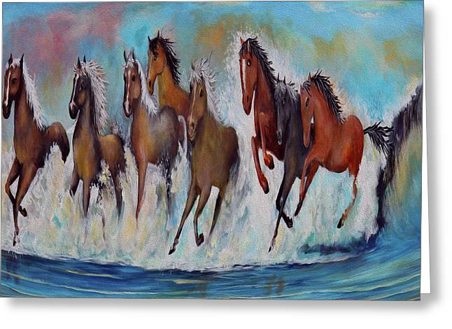 Horses Of Success Greeting Card