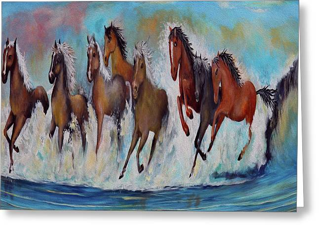 Horses Of Success Greeting Card