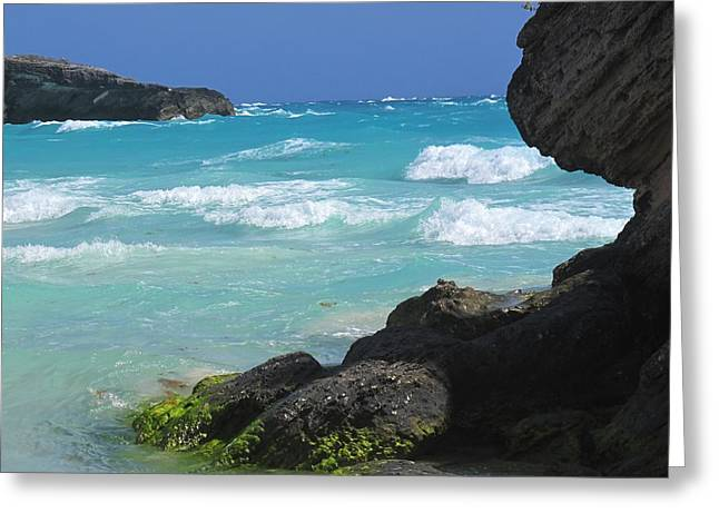 Horseshoe Bay Rocks Greeting Card