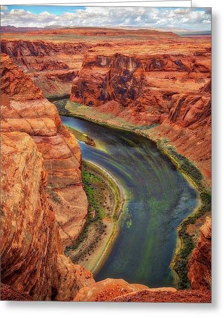 Greeting Card featuring the photograph Horseshoe Bend Arizona - Colorado River #3 by Jennifer Rondinelli Reilly - Fine Art Photography