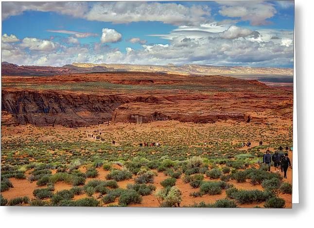 Greeting Card featuring the photograph Horseshoe Bend  - Arizona by Jennifer Rondinelli Reilly - Fine Art Photography