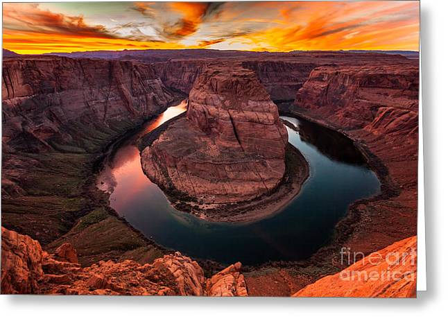 Horseshoe Bend, Colorado River, Page, Arizona  Greeting Card