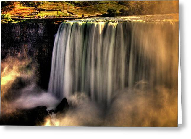 Horseshoe Falls Early Autumn No 03 Greeting Card