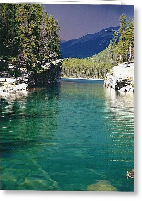Horseshoe Lake Greeting Card by Shirley Sirois