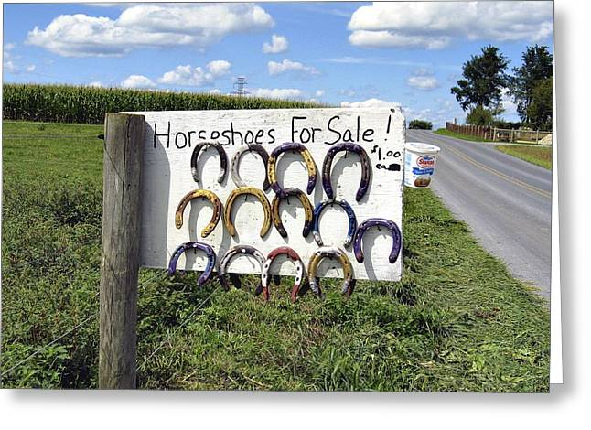 Horseshoes For Sale Greeting Card