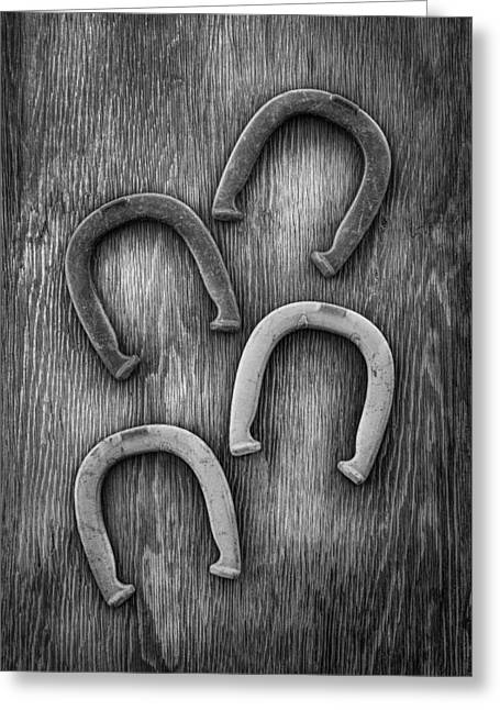 Horseshoes Set Greeting Card