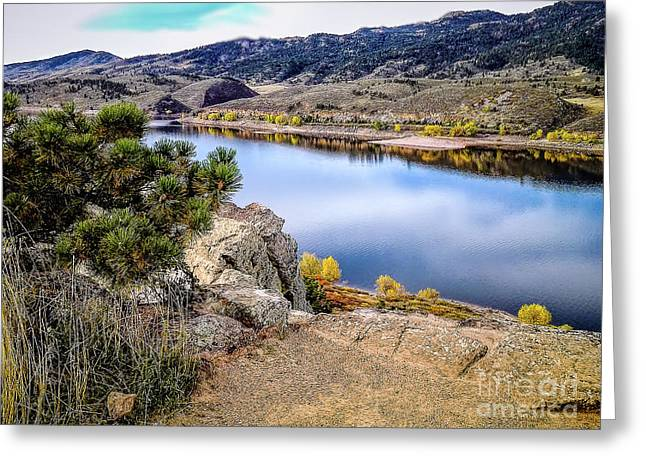 Horsetooth Autumn Greeting Card by Jon Burch Photography