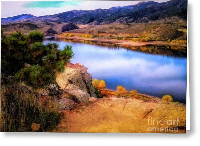Horsetooth Lake Overlook Greeting Card