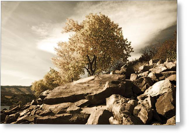 Horsetooth Reservoir Greeting Cards - Horsetooth Reservoir 4 Greeting Card by Matthew Angelo