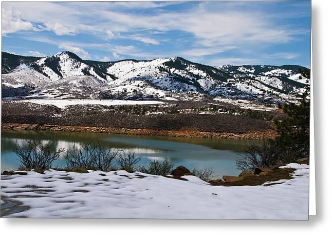 Horsetooth Reservoir Greeting Cards - Horsetooth Reservoir Greeting Card by Harry Strharsky