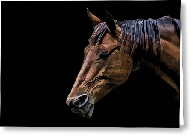 Horsing Around Greeting Card by Gary Smith