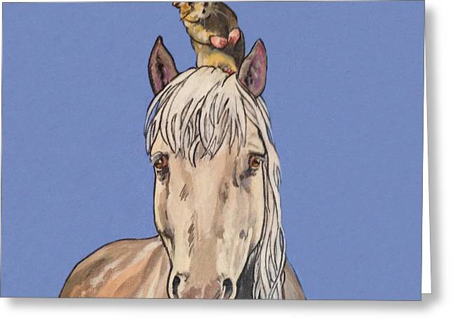 Hortense The Horse Greeting Card