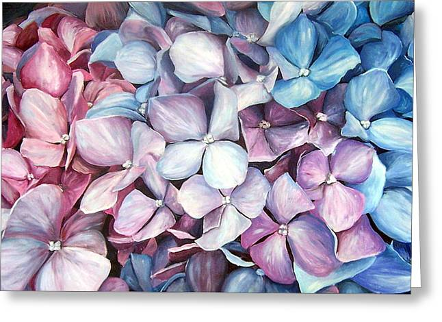 Hortensias Greeting Card by Natalia Tejera