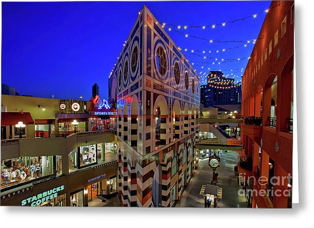 Horton Plaza Shopping Center Greeting Card