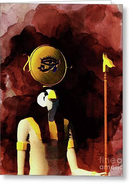Horus - God Of Egypt Greeting Card