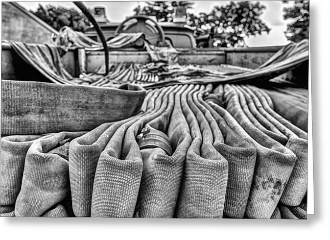 Hoses Black And White Greeting Card by JC Findley
