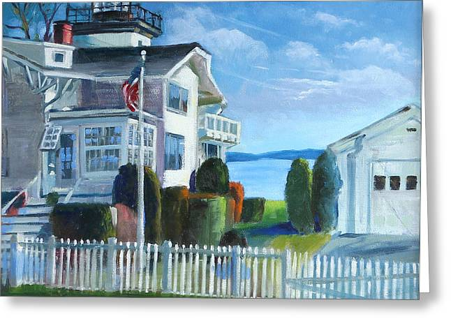 Hospital Point Light  Greeting Card