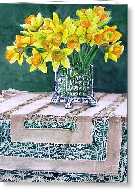 Host Of Daffodils Greeting Card