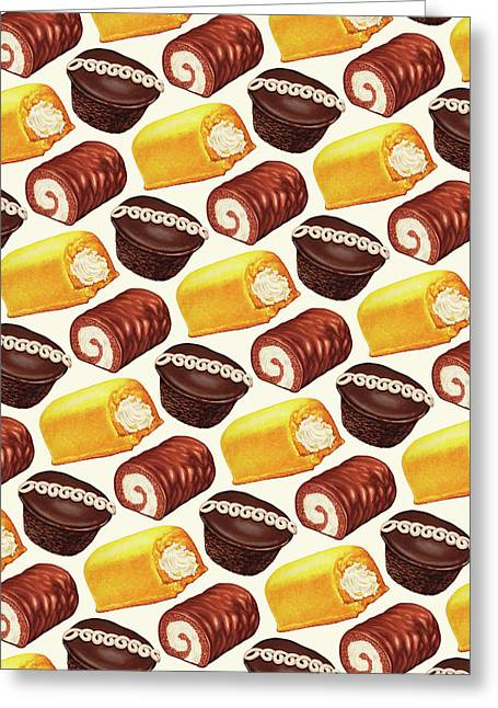 Hostess Cakes Pattern Greeting Card