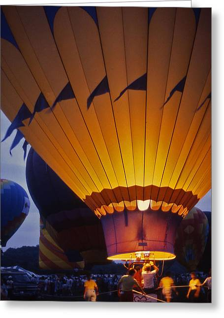 Percy Warner Parks Greeting Cards - Hot Air Balloon - 10 Greeting Card by Randy Muir