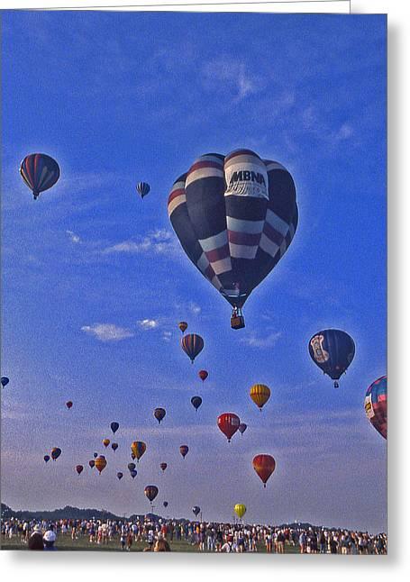 Hot Air Balloon - 14 Greeting Card by Randy Muir