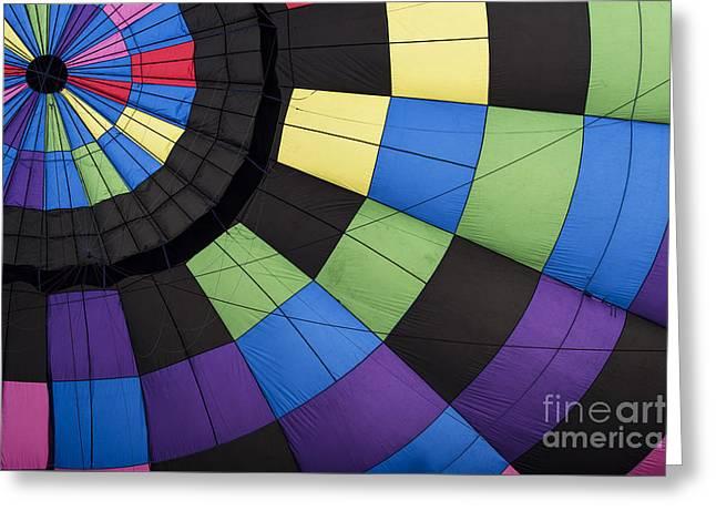 Hot Air Balloon Abstract Greeting Card by Juli Scalzi
