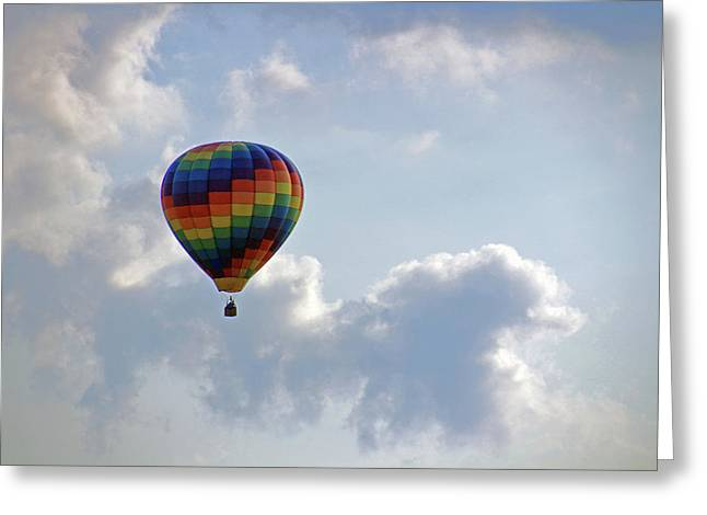 Greeting Card featuring the photograph Hot Air Balloon by Angela Murdock