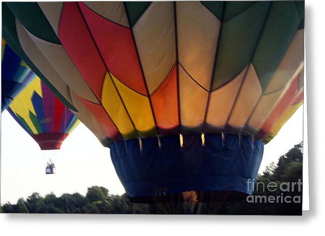 Greeting Card featuring the painting Hot Air Balloon by Debra Crank