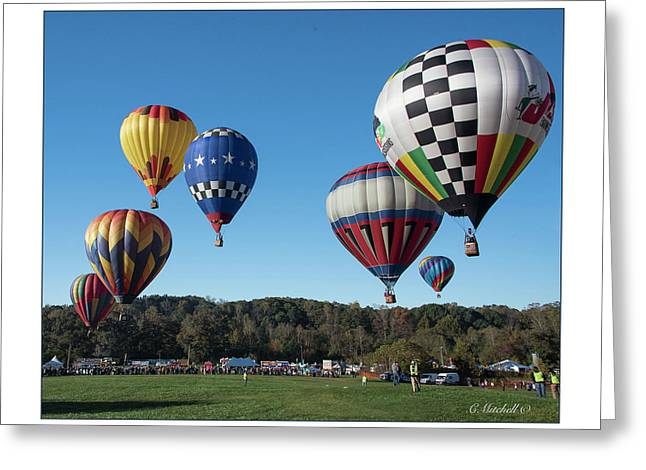 Hot Air Balloon Festival Greeting Card by Connie Mitchell